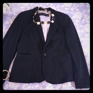 Zara black basic blazer